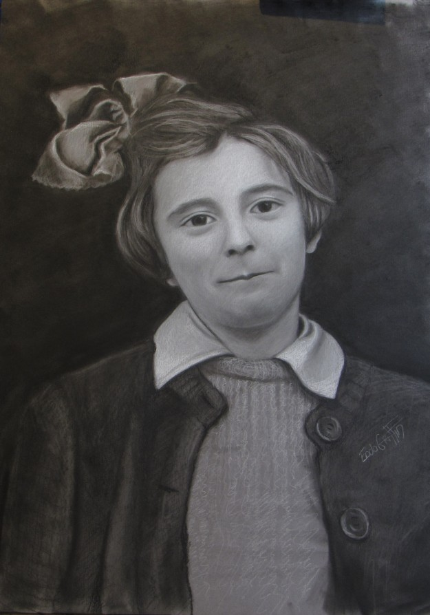 julie charcoal drawing